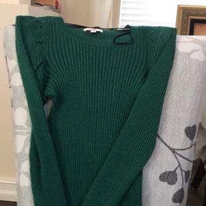 Gianni Bini girls green long sleeve shirt